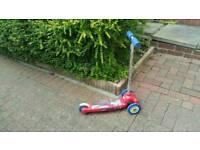 Spiderman 3 wheel scooter