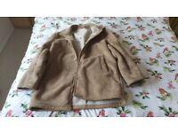 Retro style sheepskin coat