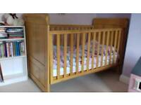 Tutti Bambini drop side cot bed with mattress under bed draw and chest of draws