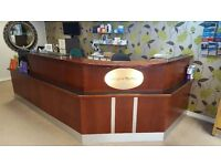 Cherry wood large 2 person reception desk