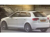2007 Audi A3 2.0 TDI, S Line, White, 5dr, Quattro, Panoramic Roof, leather, 215 BHP
