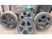 17 inch alloys 5 stud of vw mk5 5 by 112