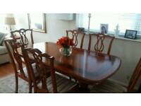 Mahogany Dining Table w/ 6 Chairs