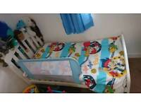 Blue bed guard cotbed / single bed