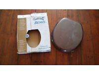 Bemis 9300CP Toilet Seat with Chrome Hinges Mahogany