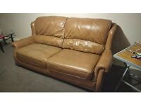 Tan/brown leather suite