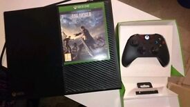 Xbox one with Ufc 2, fifa 16 and 17, battlefield 1,rocket league, Control with box(slight fault)