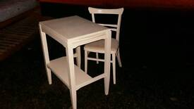Small wooden craft/sewing table, with chair. Delivery available
