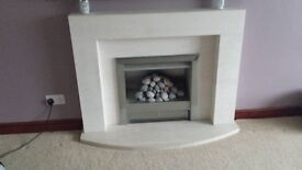 Gas Fire and Marble Surround
