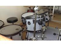 Mapex Meriadian Black Viper drum kit with cymbals and stands