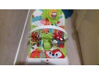 Fisher Price baby bouncer with vibration setting. Animal themed in VGC
