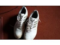 ADIDAS GOLF SHOES, HARDLY USED, SIZE 9.