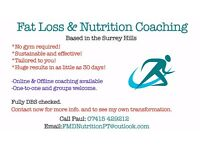 Fat Loss & Nutrition Coach. Transformation and Wellness based in the Surrey Hills. PT. Training.
