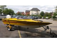 Fast speed boat with 70hp and trailer