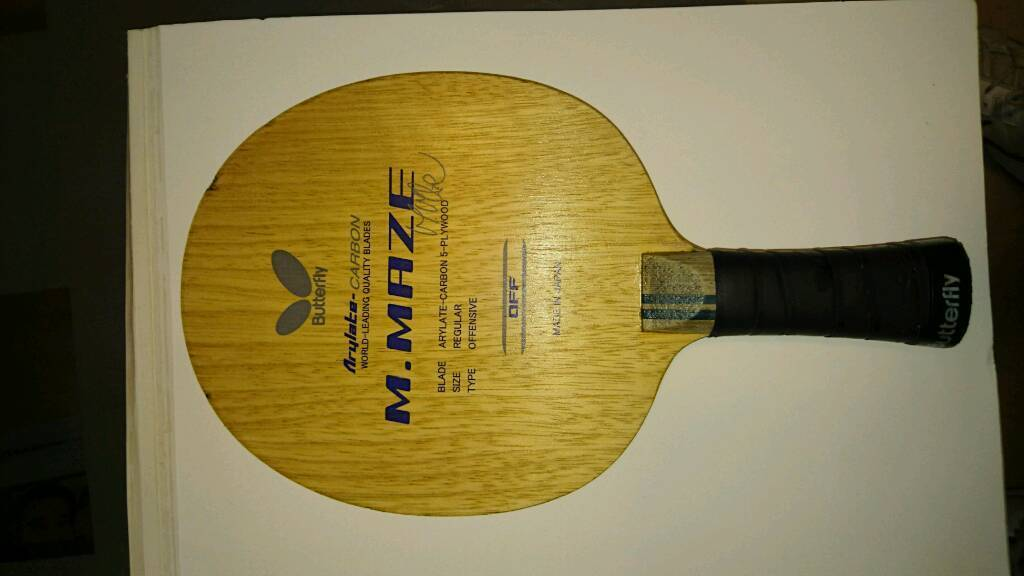 Butterfly michael maze arylate carbon table tennis blade in county antrim gumtree - Gumtree table tennis table ...