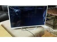 "Sony 24""led broken screen no remote"