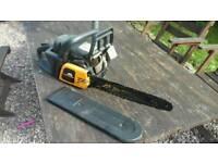 Yellow mcculloch petrol chainsaw mac 838