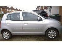 Silver Kia Picanto LX , 2005,high spec for year with lots of features, see below, and low mileage.