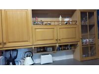 Used kitchen cabinets, washing machine, electric hob and electric oven for sale
