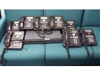 AVAYA telephone system with IP Office 500 V2 control unit PL811 8 expansions 8 phones