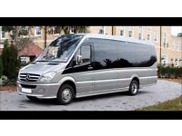 Manchester Minibus Hire With Driver - 8 Seater - 12 Seater - 16 Seater - 24 Seater & Coaches