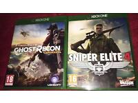 Ghost Recon wildlands And Sniper Elite 4 For Xbox one