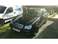 Jet Black Mercedes Benz C CLASS