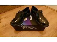 Girls Black patent shoes Size 4 uk