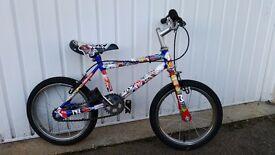 "Sticker-Bombed Kid's Bike (14"" wheels)"