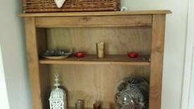 Solid pine book shelf