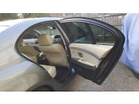 BMW 730d e65 cream leather rear door panels