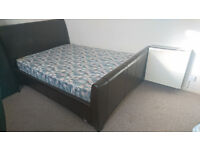 Double bed with mattress 6 months old