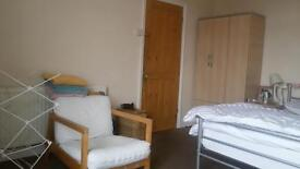 large double bedroom available in a shared 3 bedroomed house, with small front garden