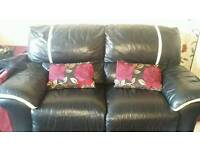 Leather sofas x 2