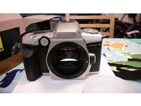 Minolta Dynax 4 slr camera & lenses