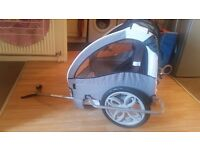 Bike trailer for children.