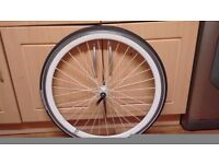 700c white Front Wheel with Tyre