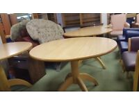 Round Pedestal Dining Table - 3 Available £30 Each