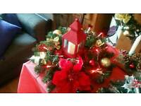 CHRISTMAS WREATHS AND YULE LOGS
