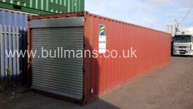 40ft – Roller shutter door shipping container, steel container, storage container for sale
