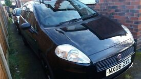 FIAT GRANDE PUNTO 1.2 ACTIVE,3 DR.06 REG.56K.,BLACK ,NEW MOT,CLEAN COND.EXC.DRIVER.HPI CLEAR