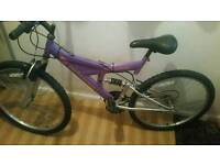 Suspension mountain bike full size 26 inch wheels in good order can deliver