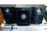 Philips FWM154 MP3 Audio Mini HiFi Sound System CD FM Radio Cassette Tape Deck