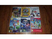 Wii Mario Game Collection - Galaxy 1 & 2, Kart, New SM Bros, Paper Mario etc