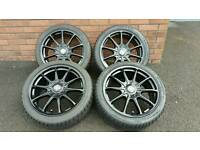 Excellent Condition Alloy Wheels with Winter Tyres