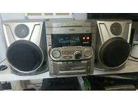 Phillips 3 cd and dvd player with speakers