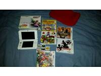 Nintendo 3ds XXL +6 best games+ charger+ cover