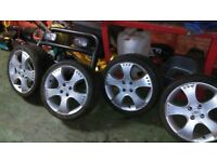 Irmscher sport star alloys with tyres