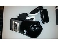 Lonsdale boxing gloves + Adidas wraps + adidas boots