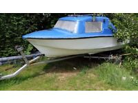 Fishing boat and trailer for sale good condition